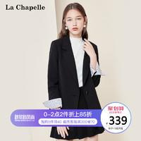 拉夏贝尔小西装外套夏薄款2019新款秋季韩版女装宽松休闲西服上衣 *2件