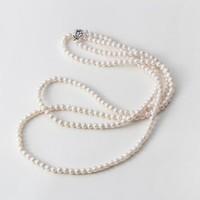 Maria 阿古屋小珍珠长款项链 白色