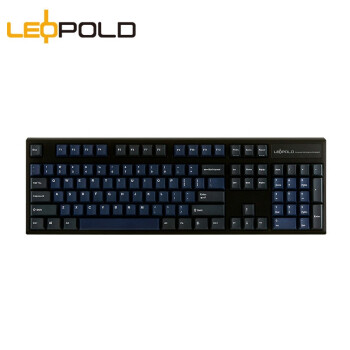 Leopold 利奥博德 FC900R 机械键盘 深海配色 红轴 (无光、有线)