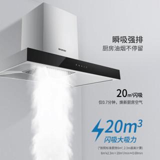 德意(DE&E)20立方大吸力 欧式抽油烟机燃气灶具套装 小尺寸烟灶套装 8515+770B