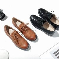 网易严选 1283003 女士布洛克系带皮鞋