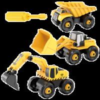 儿童工程车玩具 挖掘机+推土机+装卸车 三只装