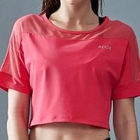 ACCA   AW117004 女子瑜伽服运动短T恤