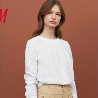 H&M HM0741862 女士休闲泡泡纱衬衫