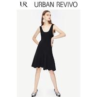 URBAN REVIVO YU36S9FN2003 女士无袖针织连衣裙