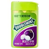 DOUBLEMINT 绿箭 无糖薄荷糖 黑加仑子味 20粒 12g *3件
