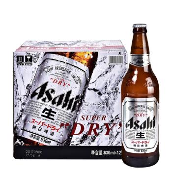 Asahi 朝日啤酒 超爽系列生啤11.2°P瓶装 630ml*12瓶 *3件