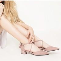 DAPHNE 达芙妮 1019102027 女士绒面单鞋 *2件