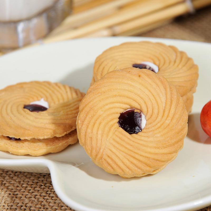 青食 情怡蓝莓夹心饼干 (100g)