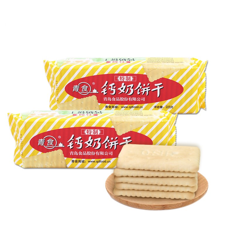 青食 特制钙奶饼干 (225g)