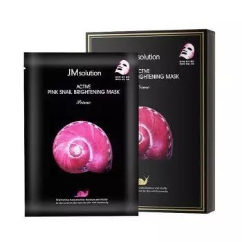 Jmsolution 肌司研 粉蜗牛原液提亮面膜 10片