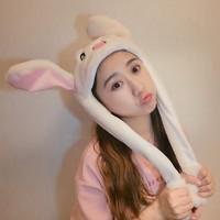 云朵熊 耳朵会动的兔帽子