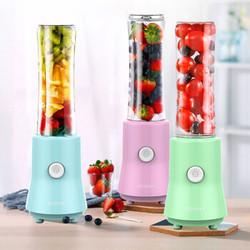 格伊 家用便携式 榨汁机 便携随身杯 榨汁杯 果汁机家用搅拌机  BL3397-马卡龙蓝