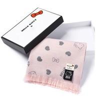 HELLO KITTY 凯蒂猫联名款围巾礼盒装 Everugg 828006 女士双面羊毛围巾
