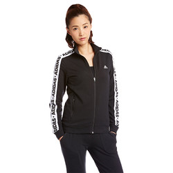 adidas 阿迪达斯女子黑色训练跑步夹克AZ4876
