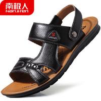 南极人(Nanjiren)男士透气舒适日常休闲防滑凉拖沙滩鞋男 NJR863 黑色 42