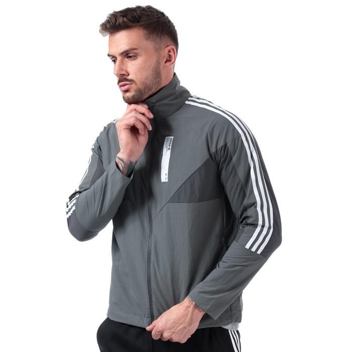 adidas Originals Mens NMD Track Jacket 男士夹克 Grey  M