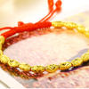 Red Year 红色年轮 情侣款转运珠黄金手链  【款式一】红绳款 约0.20g*18颗 总金重约3.6g