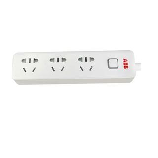 ABB AF205 六位五孔插线板( 白色) USB3A输出 1.8m