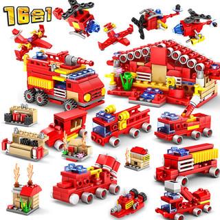 KAZI 开智 军事模型系列 城市消防16款