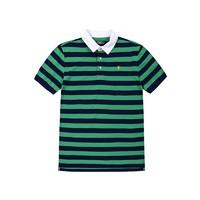 POLO 拉夫·劳伦亲子款 针织 POLO衫 绿色深蓝条纹