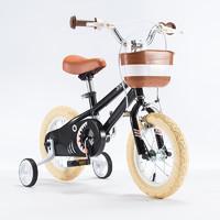 优贝儿童自行车定制款小白鲨12寸宝宝脚踏车2-5岁童车男女孩单车