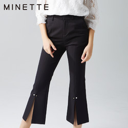 MINETTE2019新款夏季女装气质喇叭裤小西裤职业装裤子30218273213
