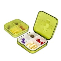 vilscijon 维简 便携式药盒 4格+切药器