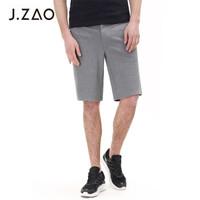 京东京造 J.ZAO 男士运动休闲高弹针织短裤 灰色 34(175/86A)