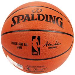SPALDING 斯伯丁 74-569Y NBA 职业比赛用球 高级全粒面牛皮表皮