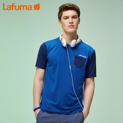 LAFUMA 法国乐飞叶 LMTS7BC51 男士夏季户外快干透气圆领拼接短袖T恤