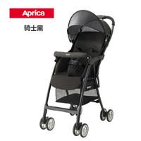 Aprica阿普丽佳婴儿车魔捷高景观婴儿推车折叠便携伞车3kg 骑士黑
