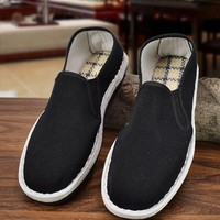贝多力 bx-0166 男士布鞋 黑胶底
