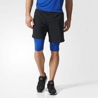 adidas 阿迪达斯 SPEED BR SH2IN1 BK6171 男士运动短裤