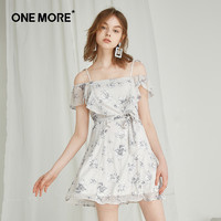 ONE MORE 11KB721350 吊带印花连衣裙