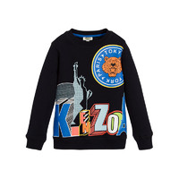 KENZO KIDS 男童 2-6岁 纽约地标虎头长袖衫 黑色 *2件