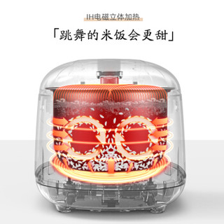 SURE SRC-PE0852 电饭煲 (蜜橘粉、 2L)
