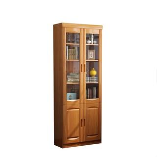 公熊家具实木书柜二三门自由组合大容量储物柜置物柜书房书橱书架