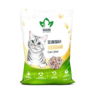 猫森林 玉米豆腐猫砂 除臭低尘结团 6L/2.2KG *2件