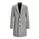 历史低价:PEACEBIRD 太平鸟 BWAA74652 男士羊毛混纺大衣 *2件 198.5元包邮(合99.25元/件)