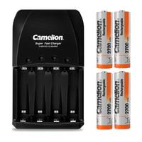 Camelion 飞狮 BC-0905A 4槽智能快充套装 5号/7号电池通用配4节2700毫安5号充电电池 鼠标/麦克风/玩具 (4粒)