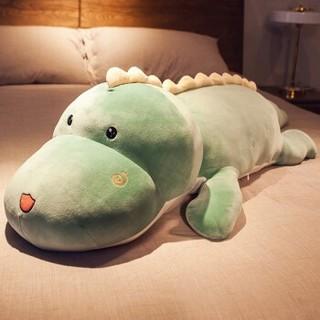 恐龙毛绒玩具 大恐龙-绿色款 1米可拆洗(送玫瑰花)