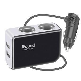 移动专享 : iFound 方正科技 FZ-24 车载点烟器扩充器 2孔+2USB