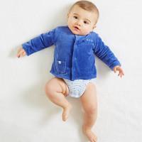 P'tit bisou 婴幼女宝宝星星外套 蓝色 3-12月