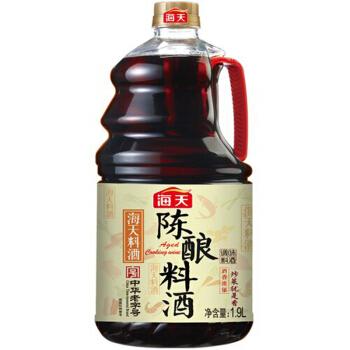 海天 陈酿料酒 精制料酒 烹饪黄酒 1.9L 中华老字号 *7件
