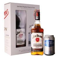 Jim Beam 金宾 美国波本威士忌 嗨棒限定套装(1瓶金宾白占边+2罐苏打汽水)