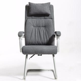 BAJIUJIAN 八九间 弓形人体工学电脑椅办公椅子 灰色-布艺