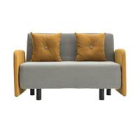 wowdsgn 尖叫设计 原创小怪兽折叠沙发床 (春姜黄、133*85*86、涤纶布艺软包;金属烤漆腿;高回弹海绵)