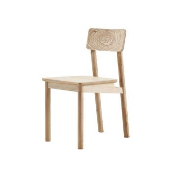 IIINSITU Studio 厌式房间 实木好人椅餐 (420*543*800mm、黑胡桃木、餐椅)