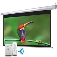 奥普达 150寸电动 高清投影幕布 白玻纤 100英寸4:3电动幕